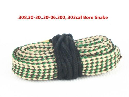 Hunting Cleaner Bore Snake Brushes 7.62mm .308 30-30 .30-06 .300 .303 Cal 24015