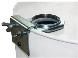 Pumpenhalterung-Pumpenhalter-Fassgewinde-2-034-fuer-Handpumpe-Blechfass-Garagenfass