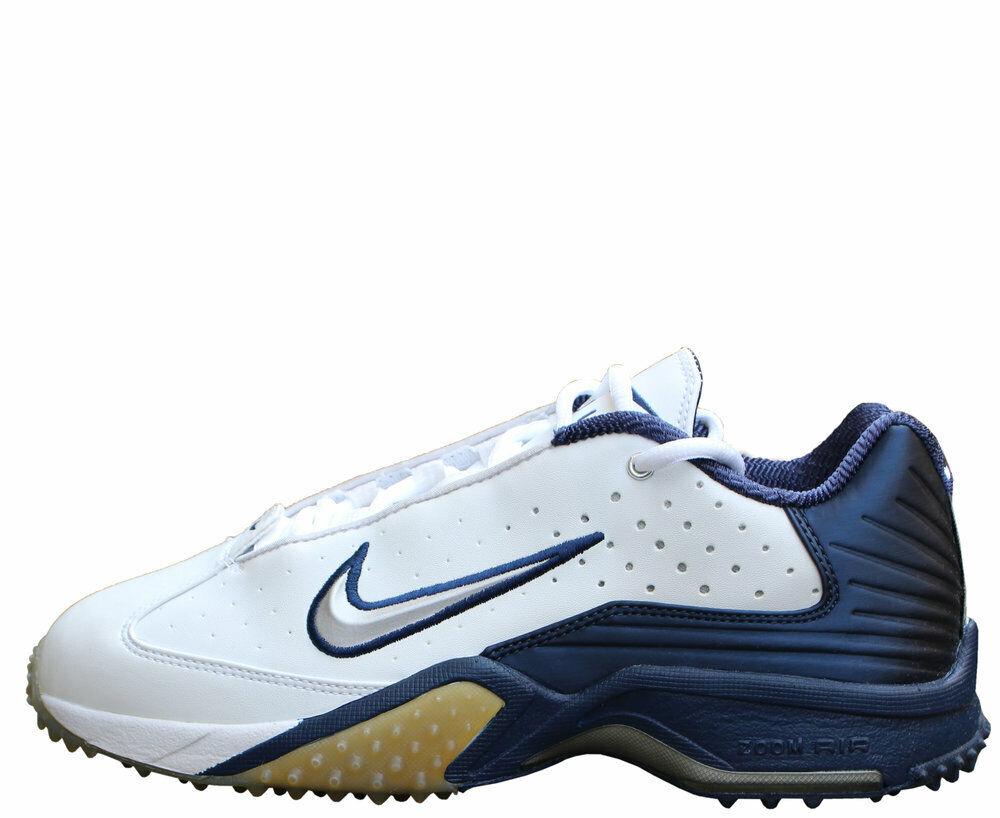 Nike Air Zoom Astro Grabber White   Metallic Silver   Navy (Size 9) DS