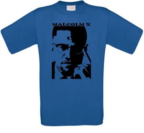 Malcolm X Black Power Islam Black Panther Revolution T-Shirt alle Größen NEU
