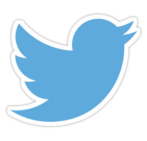 Adesivo sticker Twitter social network negozio vetrina tweet uccello rondine