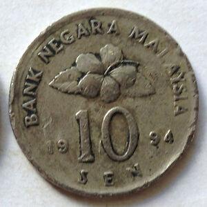 Second Series 10 sen coin 1994 (B)