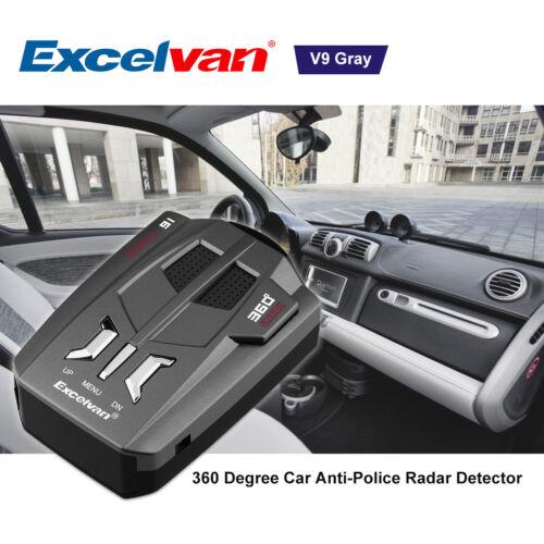 Vehicle Radar Detection Voice Alert Car Anti Radar Gun Speed V9 Laser Detector