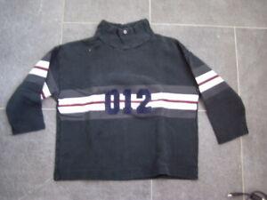 Cooles-schwarzes-Sweatshirt-Benetton-Gr-128-Jungs