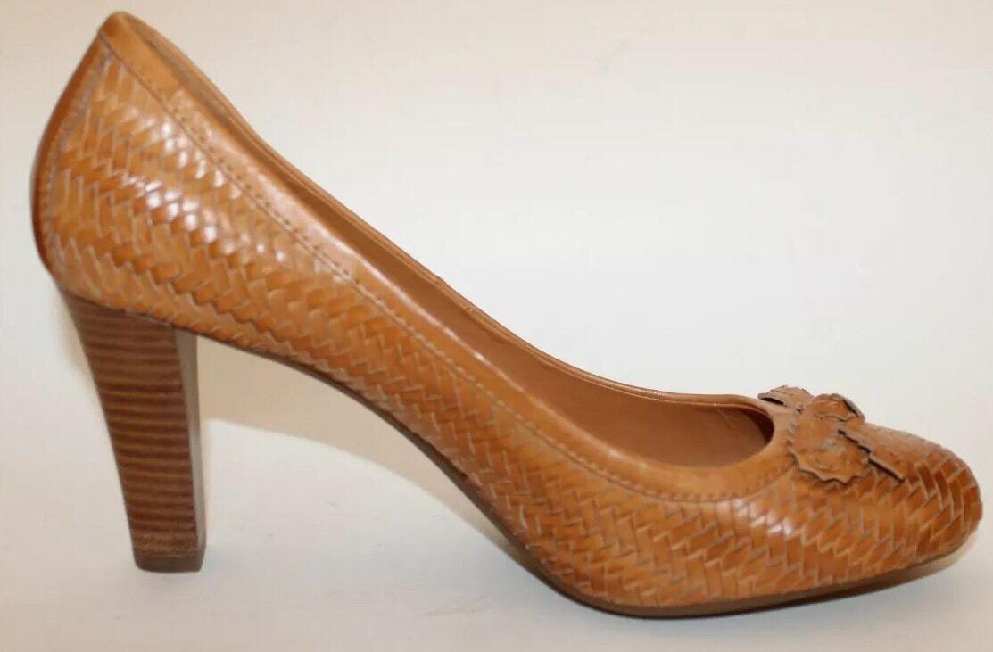 all'ingrosso economico e di alta qualità NWT Geox Braided Leather Tan Tan Tan donna scarpe High Heel Pumps Sz 10 Camel  da non perdere!