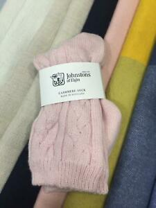 Cable-Knit-Cashmere-Socks-Johnstons-of-Elgin-Made-in-Scotland-Pink-Warm