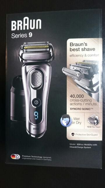 Braun Series 9 Rasierer Modell 9291 cc Wet & Dry neu & OVP