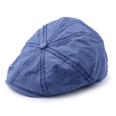 Herren Ballonmütze Zeitungsjunge Hut Peaky Blinders Gatsby Schiebermütze Blau