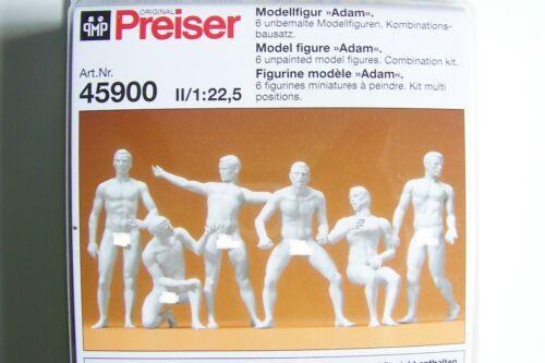 Preiser G 1:22.5  ADAM  UNPAINTED Figures KIT # 45900 (Ships from Chicagoland)