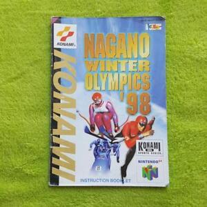 N64-Nagano-Winter-Olympics-98-Instrucciones-Manual-Manual-Folleto