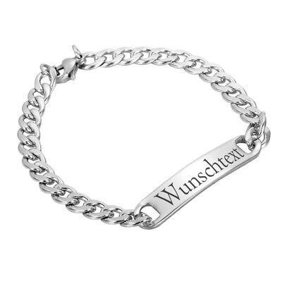 Gewidmet Edelstahl Armband Mit Wunschmotiv - Damen Armband - Wunschgravur Hohe Sicherheit
