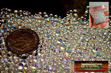 M00222 MOREZMORE 1 oz 3 mm Iridescent Glass Bubbles No Hole Bead Microbeads T20