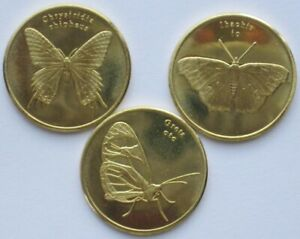 Sulawesi-5-rupees-2019-3-coins-set-Butterfly