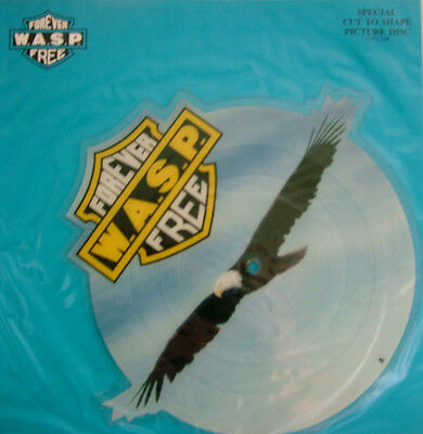 EXCELLENT! WASP FOREVER FREE VINYL SHAPED PIC PICTURE DISC  (CLPD 546) W.A.S.P.