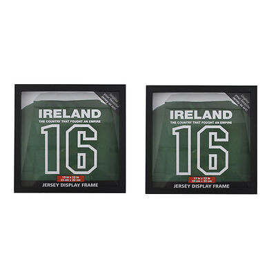 2 Frame for Football Rugby Shirts Display T-Shirt Case Framed Jersey Autographed