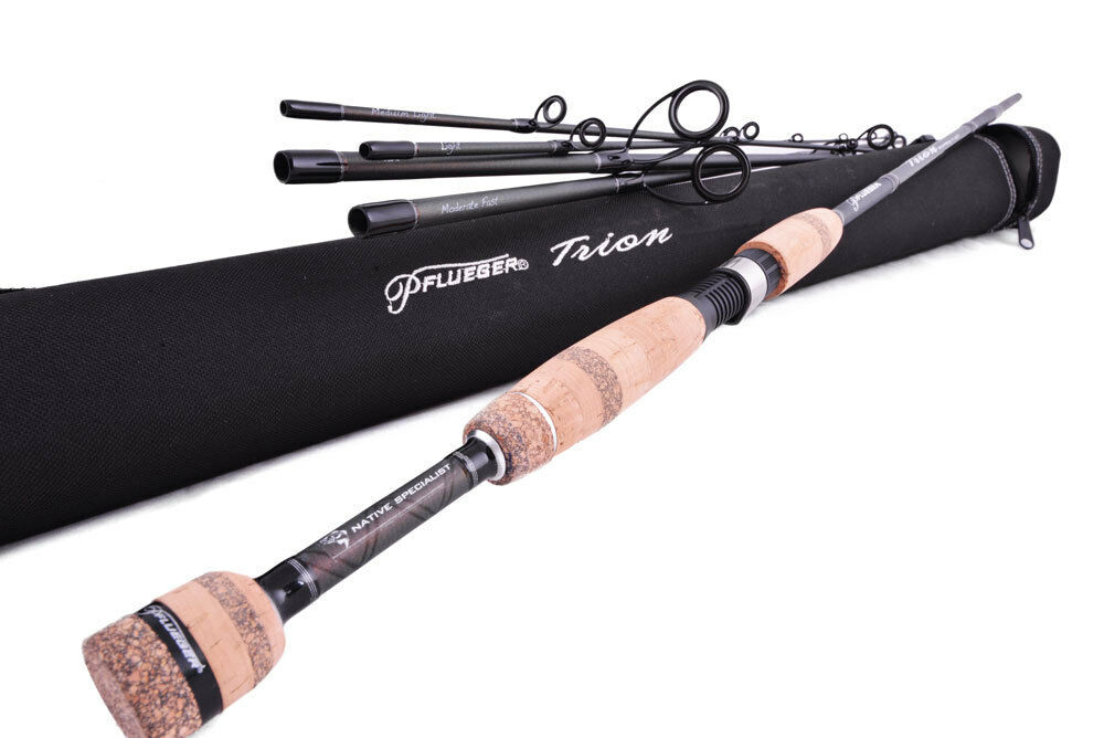 PFLUEGER Trion Transcendent Travel Spin Fishing Rod Rod Fishing 6'10' 5 piece 1-3kg+HardCase 8807e9