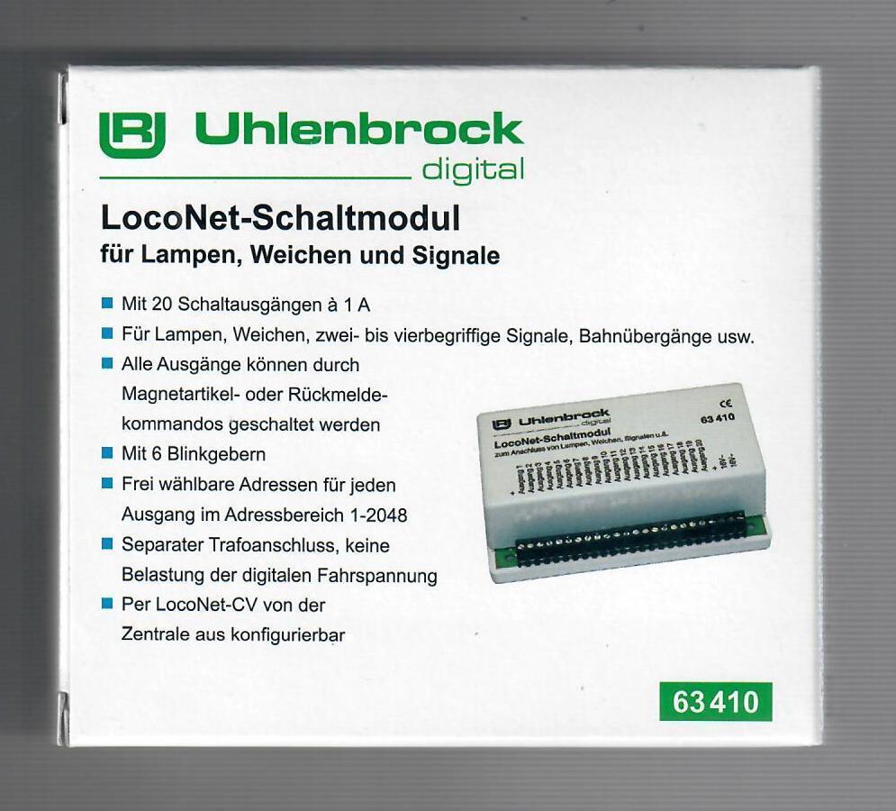 Uhlenbrock 63410 loconet del circuito Módulo  neu en OVP
