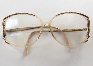 vintage safilo womens brown clear oversized hipster eye granny