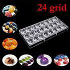 Clear Hard Chocolate Maker Polycarbonate PC DIY 24 Half Ball Candy Mold Mould