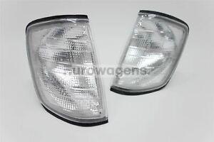 Mercedes-Classe-E-W124-85-95-avant-Clignotant-Clair-Paire-Set-Gauche-Droit