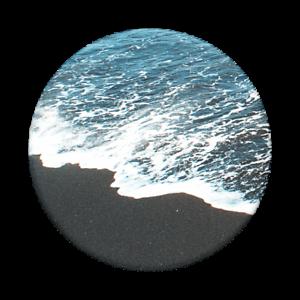 Black Sand Beach Popsockets Popgrip Universal Phone