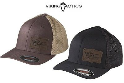 Viking Tactics VTAC Flexfit Hat W/Patch-Black or Brown-Choose Your Size