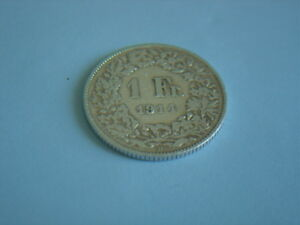 Silber-Muenzen-1914-B-Schweiz-1-x-1-Franken-sihe-Bild-Silver-Coin-Svizzera