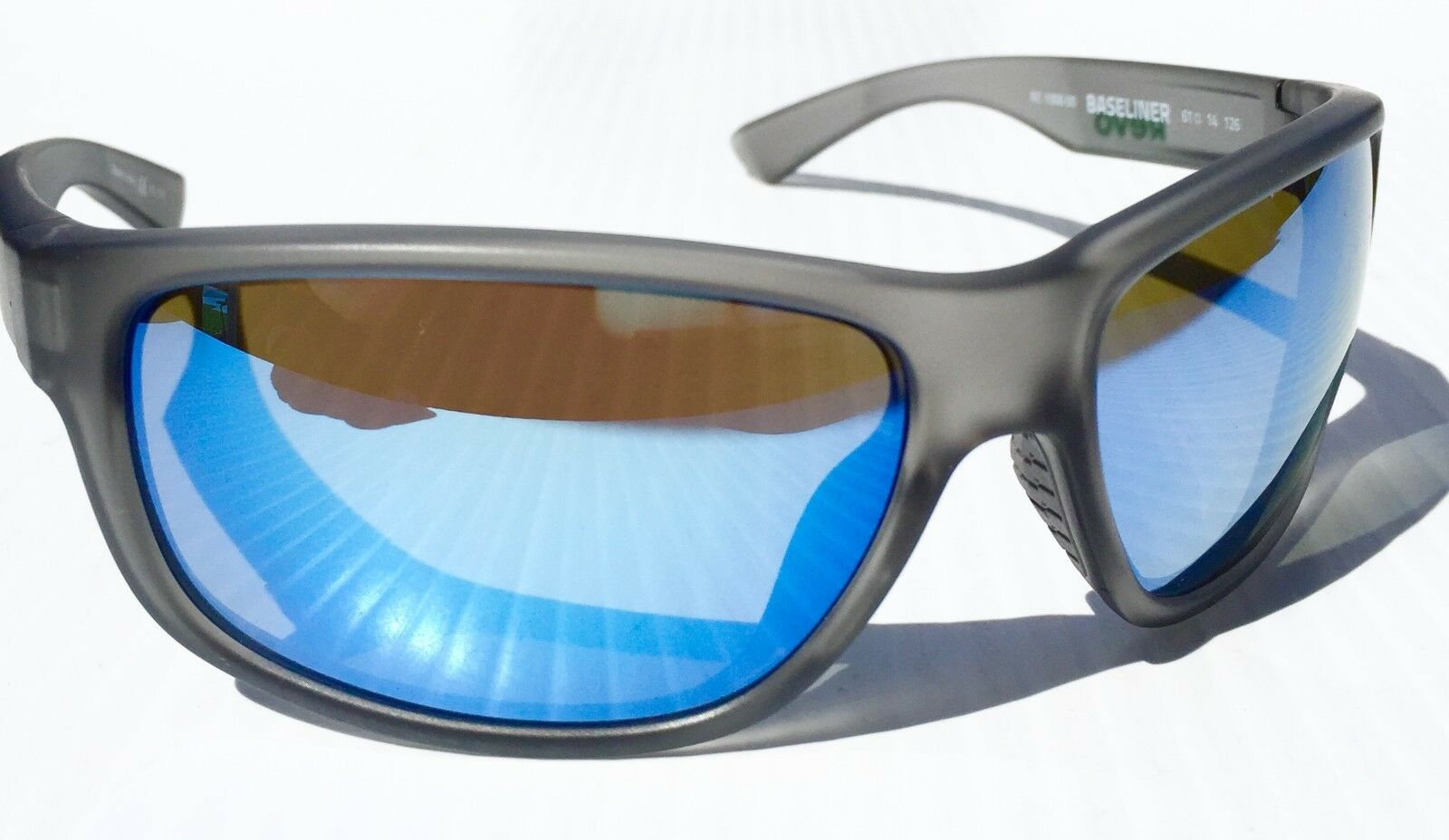 3eda67b26c631 New  REVO Baseliner Matte Grey Polarized Blue Water Angler Lens ...