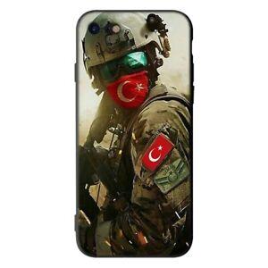 Funda-Turkish-bandera-turkiy-Turquia-iPhone-5-6-6S-7-8-Plus-X-Xr-XS-11-Pro-Max