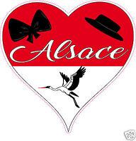 Sticker Autocollant Coeur Alsace