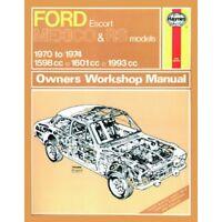 0139 Haynes Ford Escort Mk I Mexico, RS 1600 & RS 2000 (70 - 74) Workshop Manual