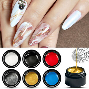 7x-MEET-ACROSS-Spider-Drawing-UV-Gel-Nail-Soak-off-Liner-Painting-UV-Gel-Varnish