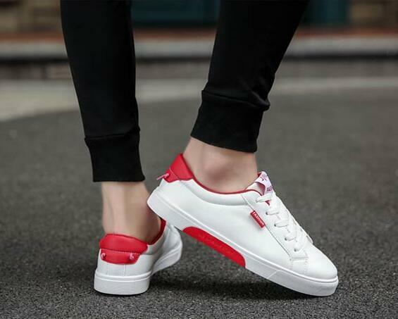 Men's Sports Applique Pu Low Top Lace Up Sneakers Casual Running Loafers shoes