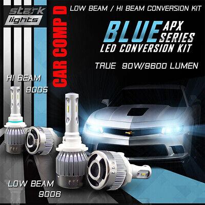 Stark NS 80W 9000LM Perfect Beam Fanless LED Kit White 6K Fog Light Bulbs H8