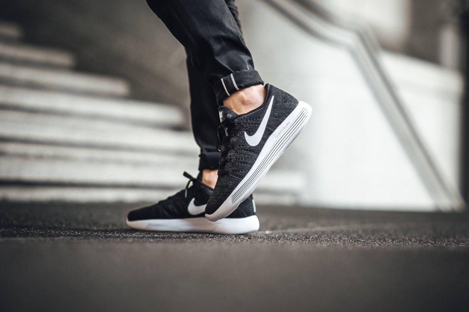 Men's Nike Flyknit Lunarepic Running Sneakers New Black White 843764-002 no box