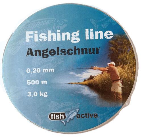 Monofile Schnur Angel-Sehne 0,20//0,25//0,30mm Schnüre Angelschnur Set 3tlg