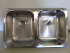 LaSalle Bristol Stainless Steel Double RV Kitchen Sink 1317SSD25155 ...