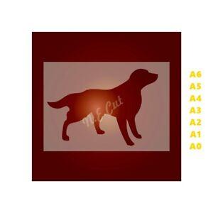 GUN-DOG-Dog-Stencil-Strong-350-micron-Mylar-not-Hobby-stuff-DOGS002