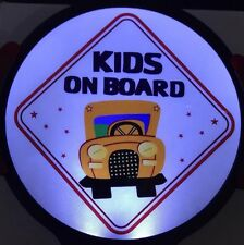 Kids On Board Light Up Decal Powerdecal LED Motion Sensing Auto Decal