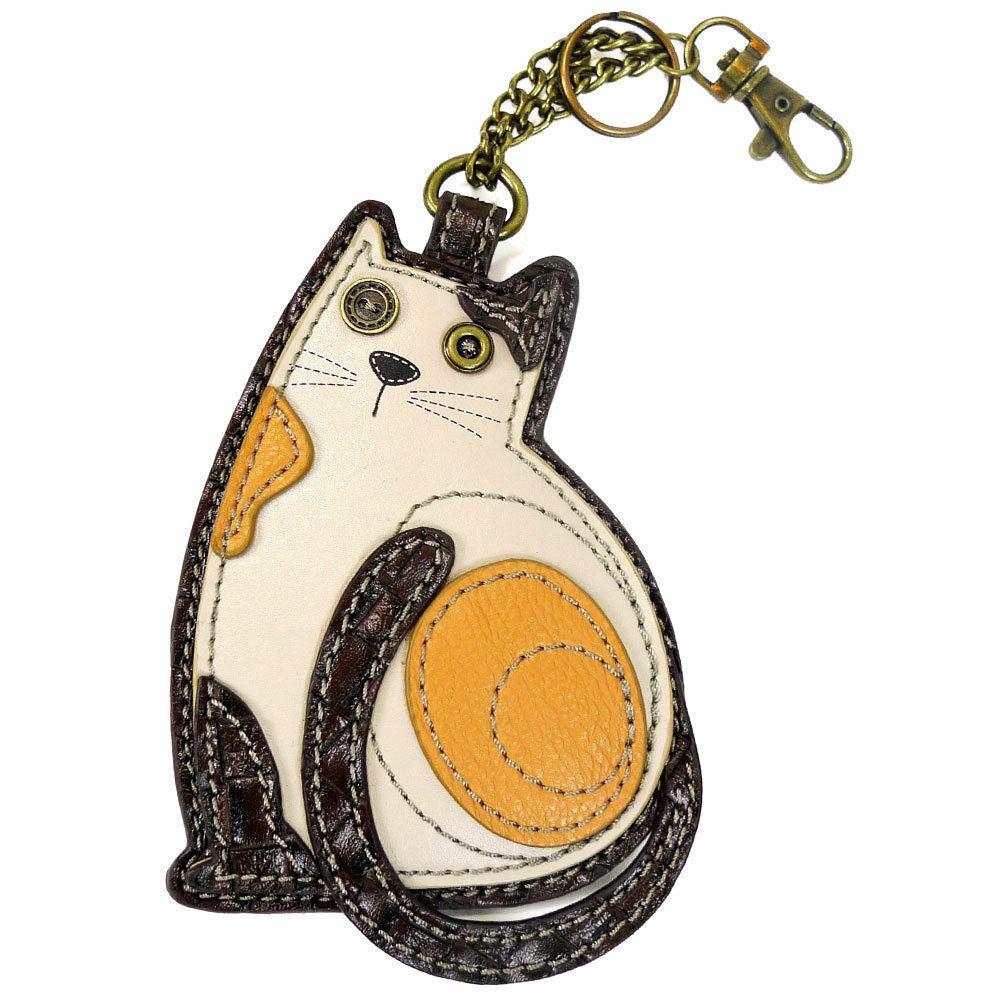 Key Fob Chala Purse Charm Slim Cat