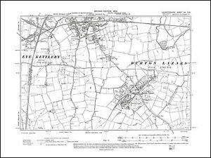 Melton Mowbray S Burton Lazars in 1904 old map Leicestershire