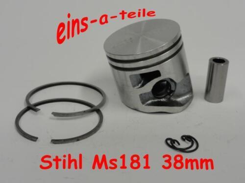 Pistón adecuado para Stihl ms181 38mm 10mm nuevo pernos calidad superior