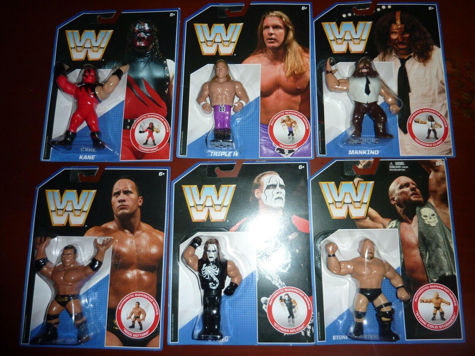 Lote WWE Mattel Retro Series 2