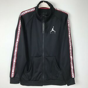 Nike Air Jordan Jumpman Tricot Jacket JSW Black/R/White ...