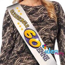 FASCIA IN RASO 60 ANNI - Accessorio Gadget idea regalo festa 60° Compleanno