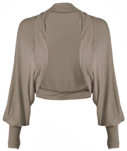 AS Ladies Long Batwing Sleeve Cropped Bolero Shrug Open Front Top Women Cardigan