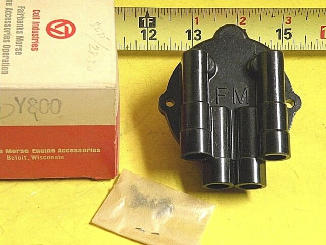 NOS Vintage Fairbanks-morse Magneto Parts Distributor Cap Y800