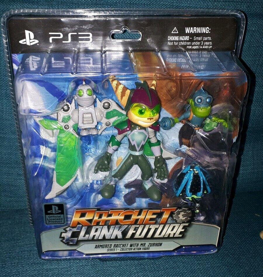 Ratchet y Clank futuro Figura de Acción blindado con el señor Zurkon Series 1 PS3