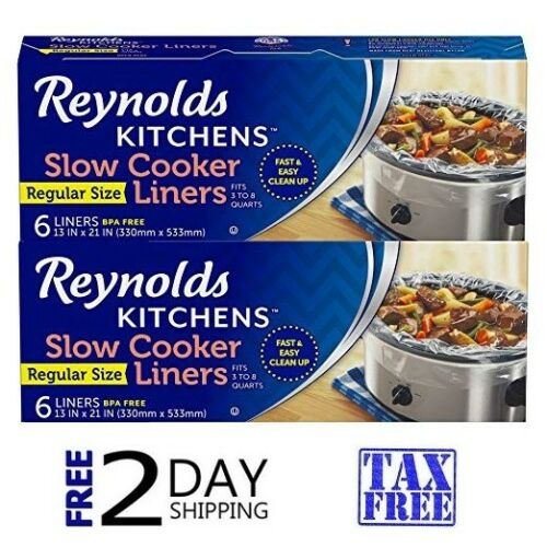 Slow Cooker Liners Cooking Chef Home Cooks Crock Pot Bags 2 PACK Kitchen Cook