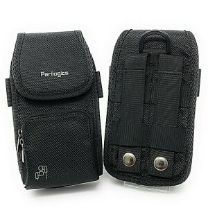 Tactical Molle Phone Holster Belt Pouch With Zipper Pocket Fits Large Phones